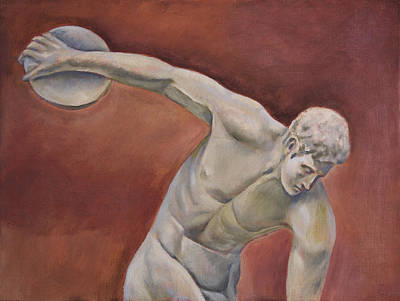 Proportions Painting - Discolobolus by Joseph Levine
