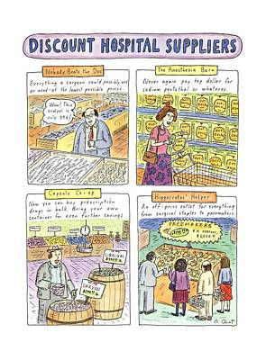 Discount Drawing - Discount Medical Suppliers by Roz Chast