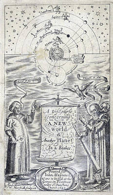 Discourse Concerning A New Planet, 1640 Art Print by Folger Shakespeare Library