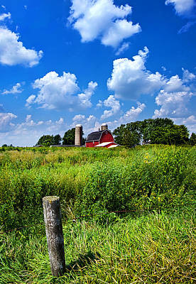 Barn Red Photograph - Discover Wisconsin by Phil Koch