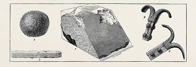 Granite Drawing - Discoveries In The Great Egyptian Pyramid 1. Original by Egyptian School