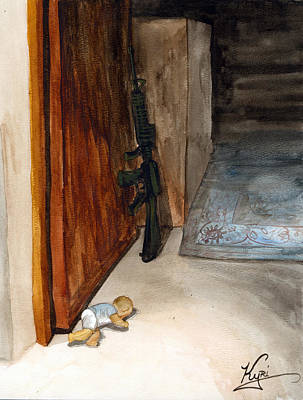 Oif Painting - Discoveries On Patrol by Annette Redman