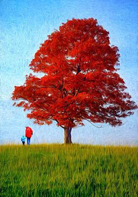 Discovering Autumn - Paint Art Print by Steve Harrington