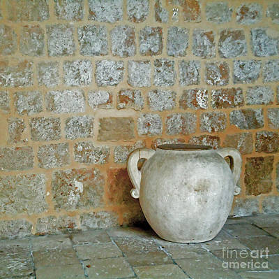 Earthenware Urn Photograph - 	Discovery				 by Ann Johndro-Collins