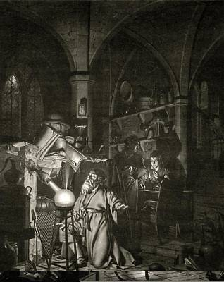 Philosophers Stone Photograph - Discovery Of Phosphorus, 17th Century by Science Photo Library