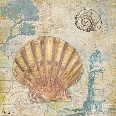 Maps Painting - Discovery Shell II by Paul Brent