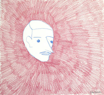 Simplicity Drawing - Disembodied On Pink by Suzanne Stockhausen