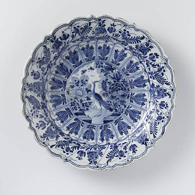 Dish, De Lampetkan, C. 1740 - C. 1790, Round Dish Of Blue Print by Quint Lox
