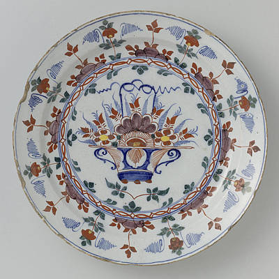 Dish Polychrome Faience, Anonymous Print by Quint Lox