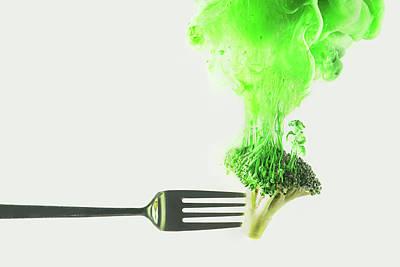 Photograph - Disintegrated Broccoli by Dina Belenko Photography