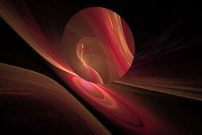 Disk Swirls Art Print by GJ Blackman
