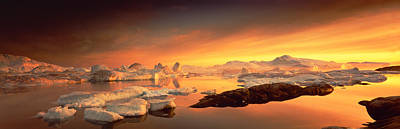 Thawing Photograph - Disko Bay, Greenland by Panoramic Images