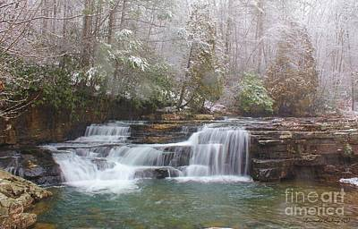 Art Print featuring the photograph Dismal Falls In Winter by Laurinda Bowling