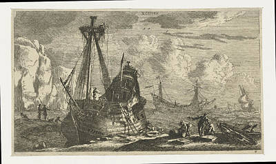 Dismantled Drawing - Dismantled Sailing Ship, Reinier Nooms by Reinier Nooms
