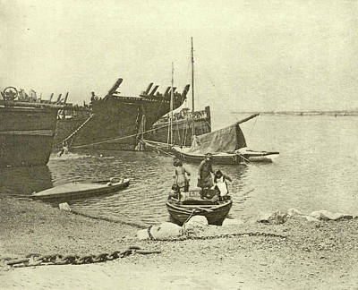 Dismantled Ships, Attributed To Peter Henry Emerson Art Print by Artokoloro