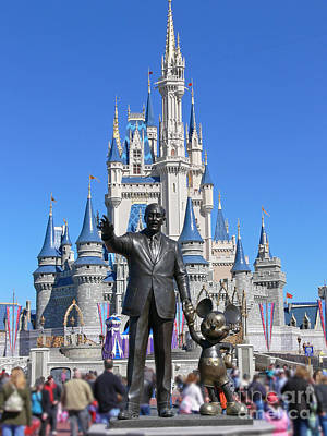 Disney And Mickey Art Print