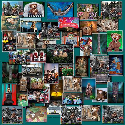 Disney Bear Collage Art Print