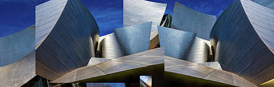 Disney Photograph - Disney Concert Hall-montage (color Version) by Ron Jones