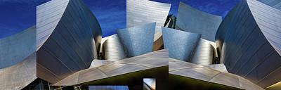 Montage Photograph - Disney Concert Hall-montage (color Version) by Ron Jones