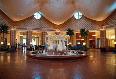 Photograph - Disney Dolphin Hotel Lobby by John Black