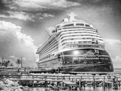 Venice Beach Bungalow - Disney Fantasy by Howard Salmon