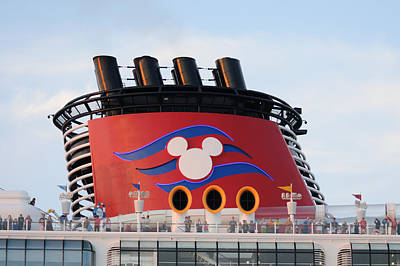 Photograph - Disney Fantasy Smokestack by Bradford Martin