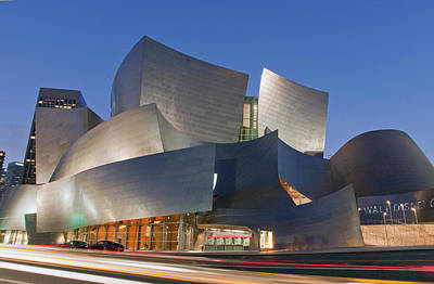 Deep Blue Photograph - Disney Hall by Matthew Bamberg