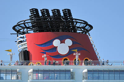 Photograph - Disney Magic Ship Stack by Bradford Martin