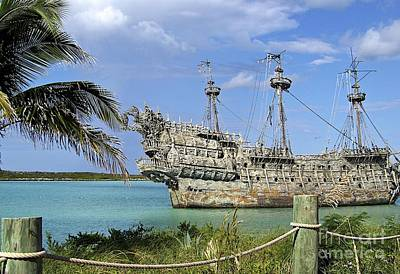 Photograph - Disney Pirate Ship At Castaway Cay by Carol  Bradley