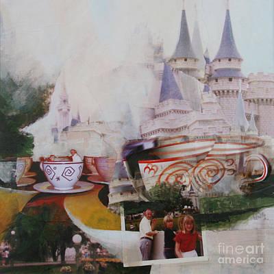 Wall Art - Painting - Disney World 1975 by Ellen Moore Osborne