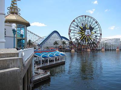 Disneyland Park Anaheim - 121253 Art Print