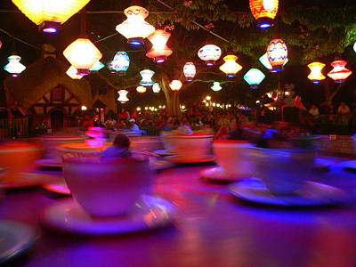Photograph - Disneyland Teacups  by Jeff Lowe
