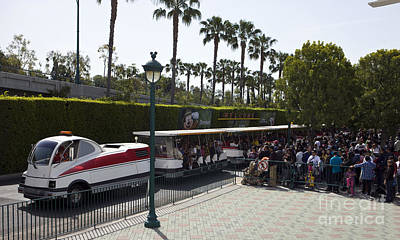 Target Project 62 Abstract - Disneyland Tram by Jason O Watson