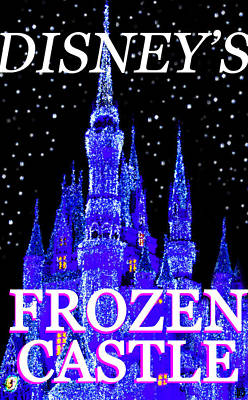 Painting - Disneys Frozen Castle Vertical Work by David Lee Thompson