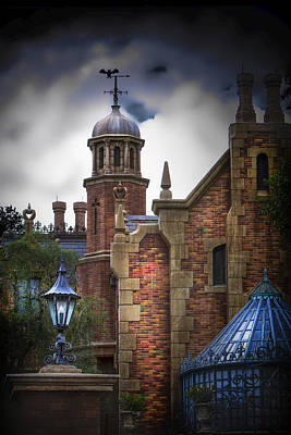 Haunted Mansion Photograph - Disney's Haunted Mansion by Mark Andrew Thomas