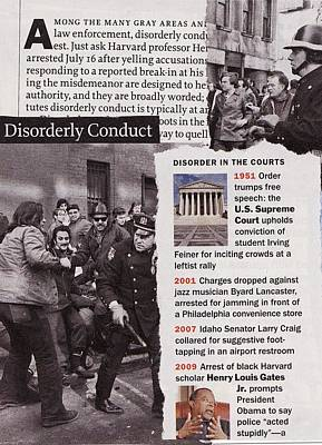 Law Enforcement Mixed Media - Disorderly Conduct by Matthew Hoffman