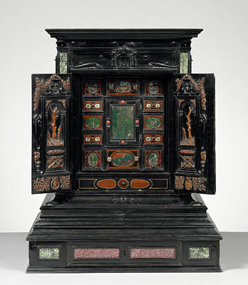 Ebony Painting - Display Cabinet Kabinettschrank Unknown, Three Wood by Litz Collection