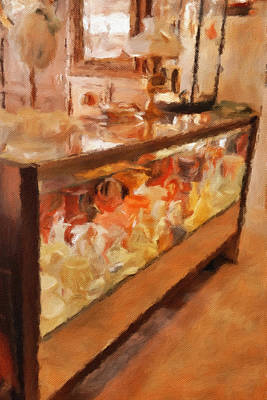 Yesteryear Art Mixed Media - Display Case by Bonnie Bruno