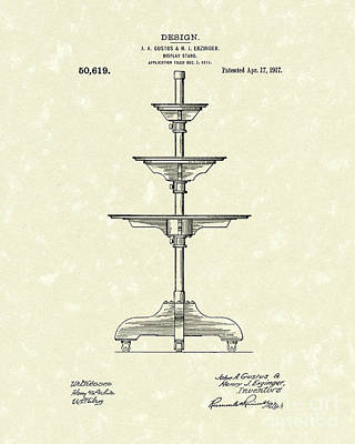Drawing - Display Stand 1917 Patent Art by Prior Art Design
