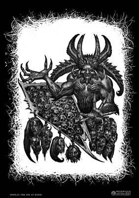 Drawing - Display The Sins At Hand by Tony Koehl