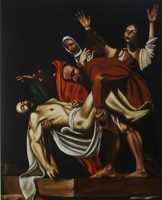 Disposition After Caravaggio Original by Richard    J Thorpe