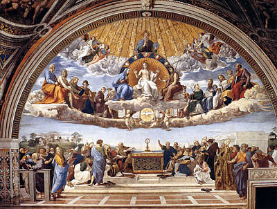 Painting - Disputation Of The Eucharist  by Raphael