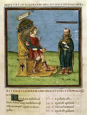 Dispute Between The Emperor Adrian Art Print by Everett