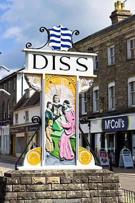 Diss Sign Art Print by Tom Gowanlock