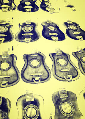 Photograph - Dissolving Guitars by Caitlyn  Grasso