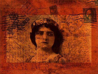 Photograph - Distance - Vintage Art Collage by Lesa Fine
