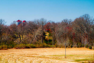 Distant Barns - Rural Art Art Print by Barry Jones