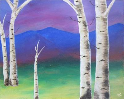 Aspen Trees Painting - Distant Hills by Elizabeth Golden