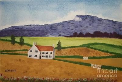 Distant Hills Art Print by John Williams