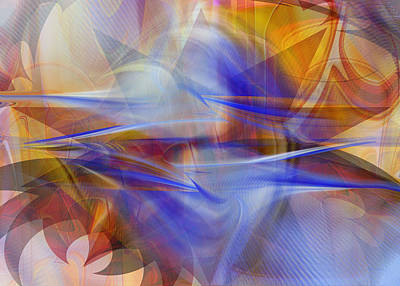Digital Art - Distant Horizons - Digital Abstract by rd Erickson